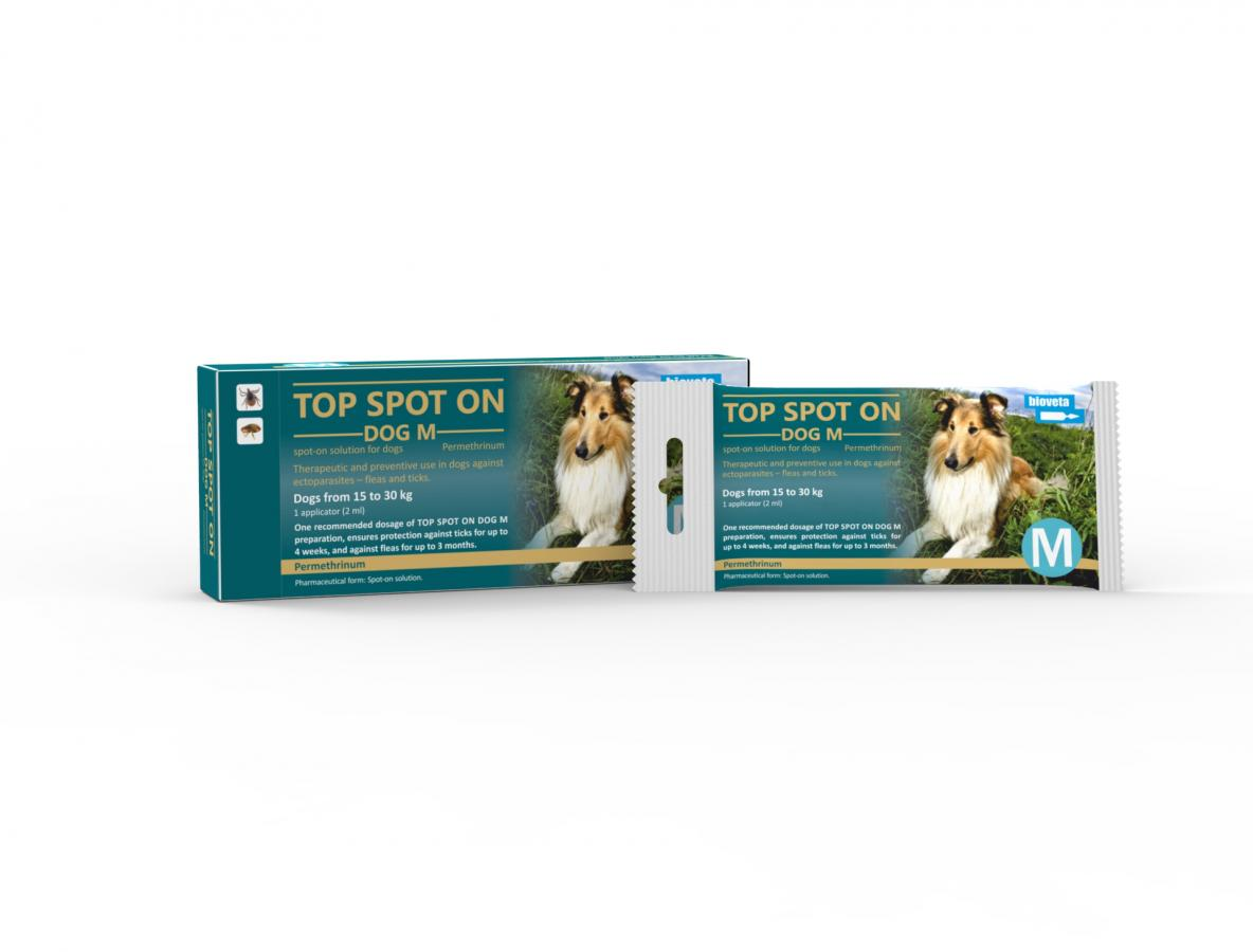 TOP SPOT ON DOG M, spot-on solution for dogs