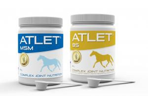 ATLET MSM and ATLET BS are used to provide horses with comprehensive joint support.