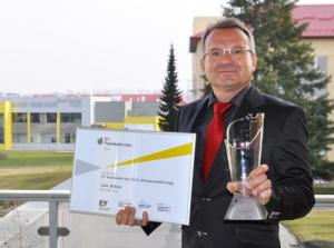 Libor Bittner, Director of Bioveta a.s., voted 2013 Entrepreneur of the Year for the South Moravian Region