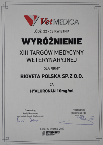 Bioveta a.s. received awards during the biggest veterinary event of the year in Poland