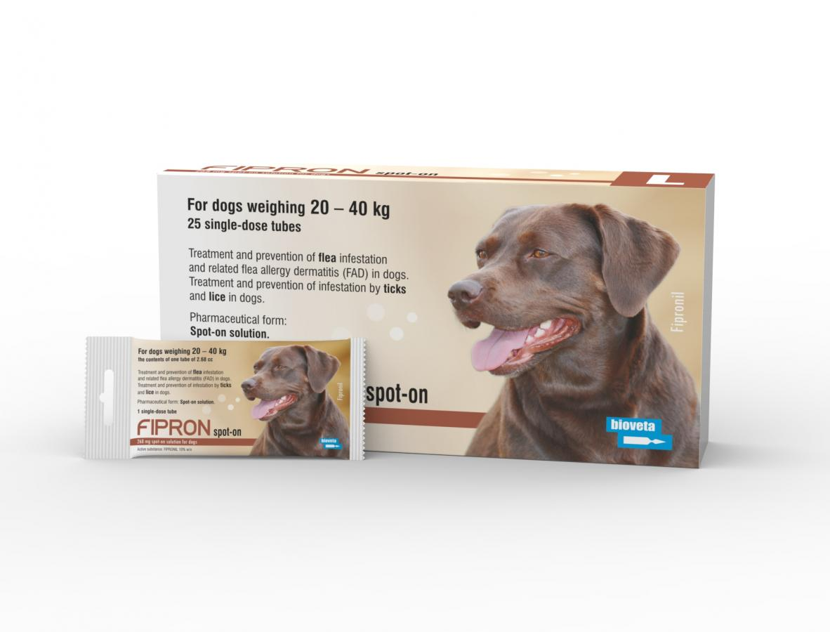 FIPRON 268 mg spot-on solution for dogs L