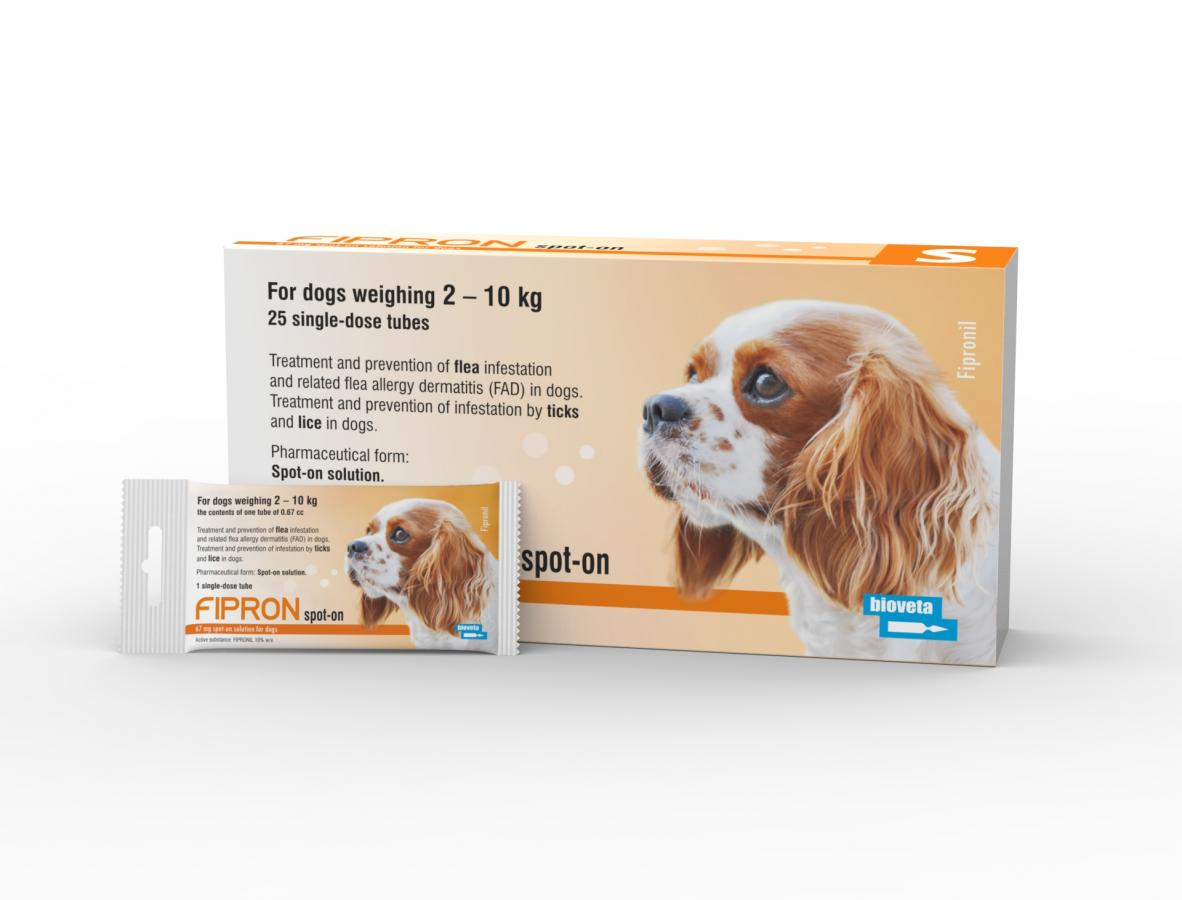 FIPRON 67 mg spot-on solution for dogs S