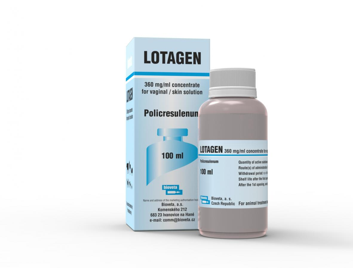 LOTAGEN 360 mg/g concentrate for vaginal/skin solution