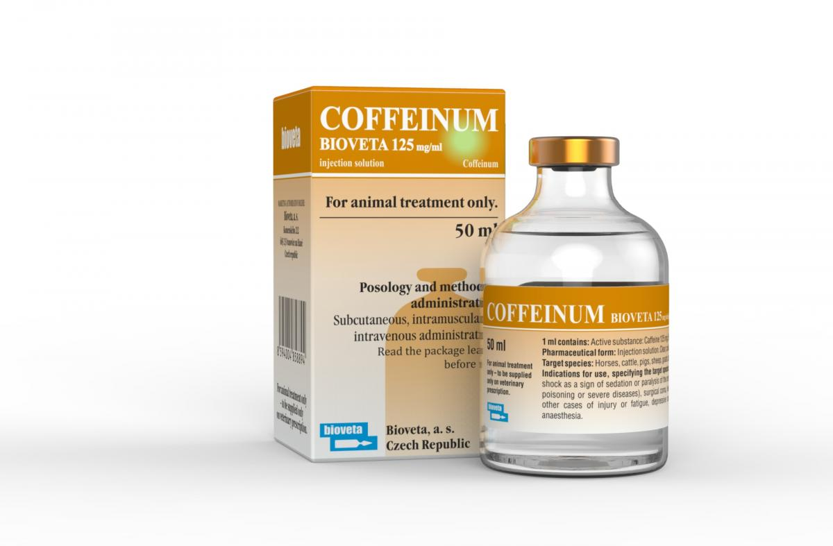 COFFEINUM BIOVETA 125 mg / ml solution for injection